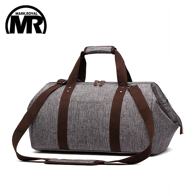 3186ded9f598 MARKROYAL Waterproof Travel Bag Large Capacity Carry On Luggage Bag  Business Hand Bag Big Opening Design Duffle Bags