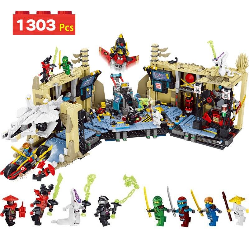 LegoINGLYS Ninjago Series Samurai X Cave Model Building Blocks Ninjago Tunnel war Compatible Eductional Technic Toy for Kid