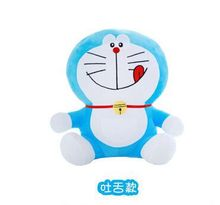 small cute doraemon toy stuffed lovely naughty doraemon doll perfect gift about 25cm