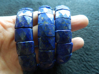 Freeshipping Natural Amazine Grade A Lapis Lazuli Faceted Shape Square Bracelet Bangle