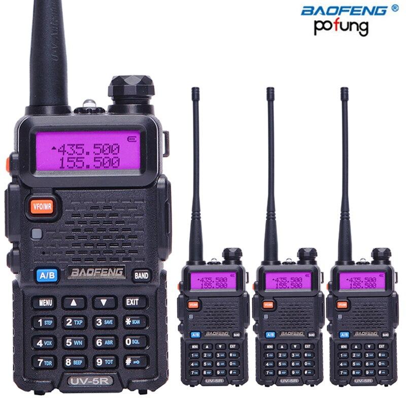 4PCS BaoFeng UV 5R Dual Band Walkie Talkie VHF UHF136 174Mhz 400 520Mhz Two way radio