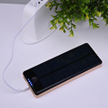 Solar Power Bank for iPhone Battery Solar Charger 2 Ports Power Bank 10000Mah Powerbank For iPhone Samsung Android Smart Phone