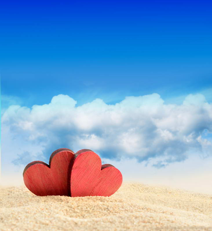Sky Blue White Cloud Photo Backdrops Red Sweetheart Golden Beach Background for Photography 200*300cm Kids Photo Backdrops under a blood red sky