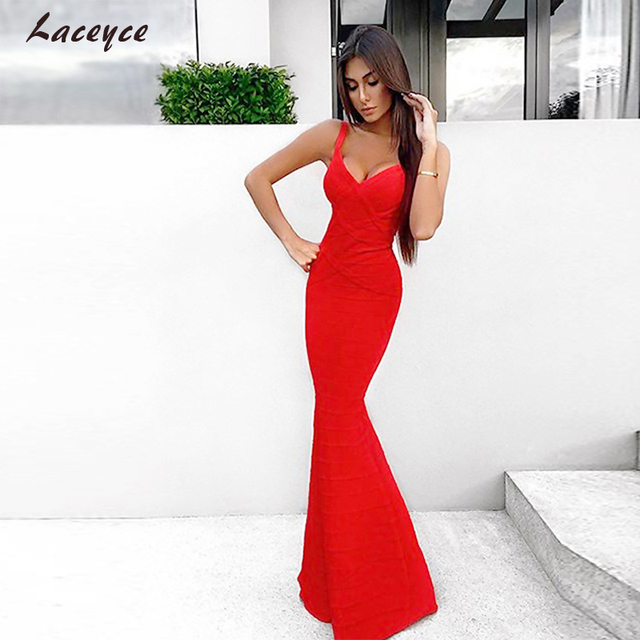 Laceyce 2018 Frauen Kleid Rot Schwarz V ausschnitt Mantel Ärmellose ...