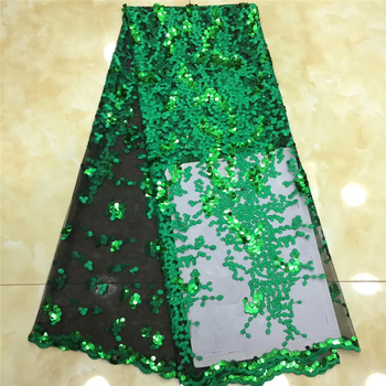 Tollola French Lace Fabric Lilac Wedding High Quality African Tulle Lace Fabric 5Yard Green Embroidered Tulle Lace fabric