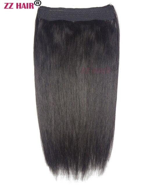 Zzhair 80g 200g 16 26 Machine Made Remy Hair Halo Hair Flip In