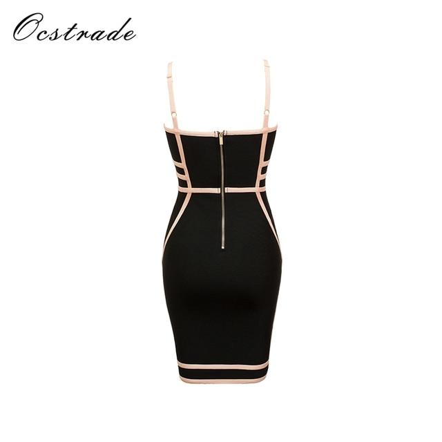 Ocstrade Bandage Dresses 2017 New Arrivals Summer Party Women Sexy Mini Black Bandage Dress Wholesale HL