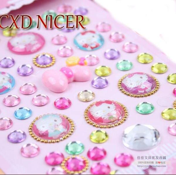 Three - Dimensional Acrylic Diamond Stickers Novelty Cellphone Decorative Label Diy Flashing Crystal Children 'S Reward miller frank batman dkr deluxe
