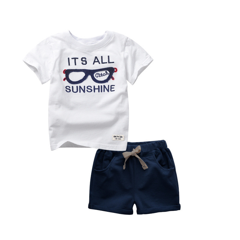 2017 Fashion kids Clothes Boys Summer Clothing Sets Children Cotton Shorts Suit Baby Boy Costumes Disfraz Infantil Tracksuits