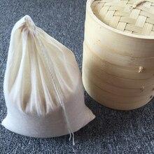 10pcs/lot 8/10/13/20/30/40cm all sizes cotton/sack/gunny/cloth drawstring bags, Gunny, water boil bag milk coffee filter