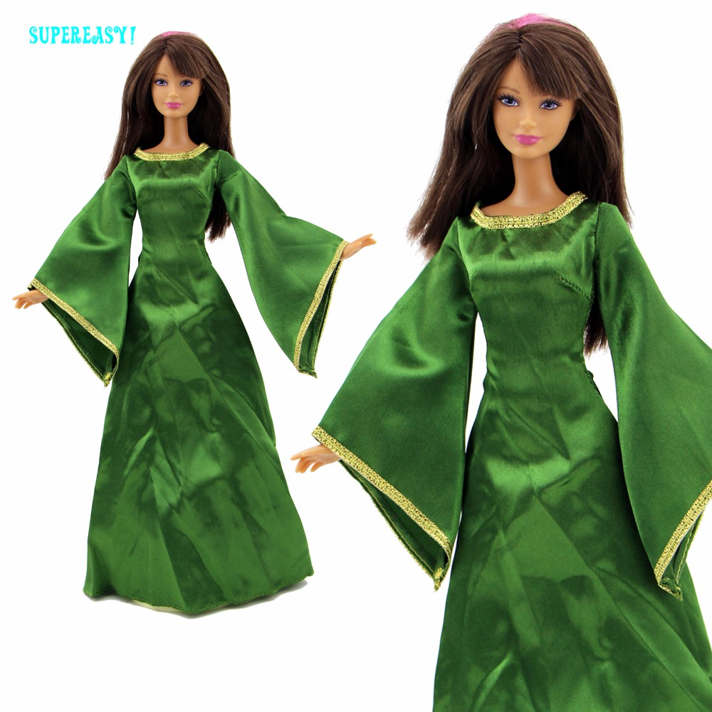 Exotic Queen Dress Fairy Tale Costume For Princess Merida Mother Clothes For Barbie Doll FR Kurhn Play House COSPLAY Kid Gift hatber optimum barbie the pearl princess 20627