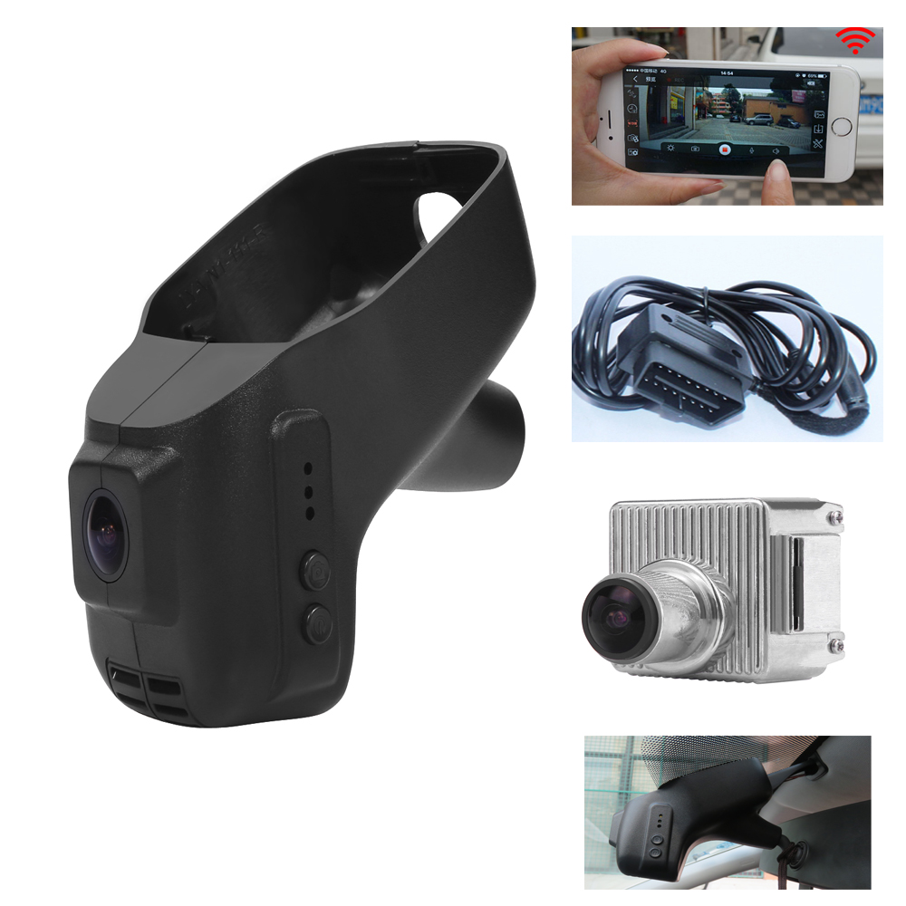 PLUSOBD Special Hidden DVR Car Camera For VW Polo Golf Tiguan 1080P Novatek Original Car Style Wireless App Connect OBD2 Adapter