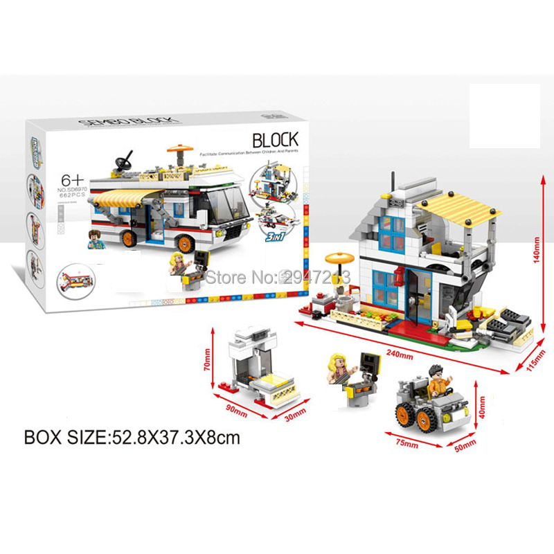 2017 hot compatible LegoINGlys city mini Street View Building blocks 3in1 Camping Touring car Yacht with figures brick toys gift compatible lepin city mini street view building blocks chinatown satin silk store with saleman figures toys for children gift