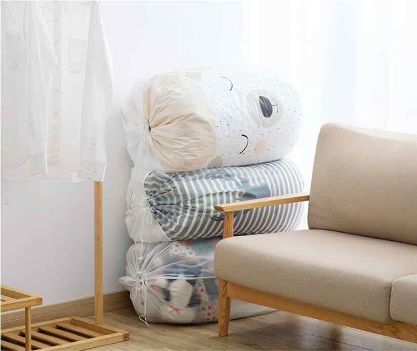 Clothes /& Blanket /& Quilt Organizer Bag Cloth Organization Bag /& Pouches for Closet Foldable Drawstring Storage Bag
