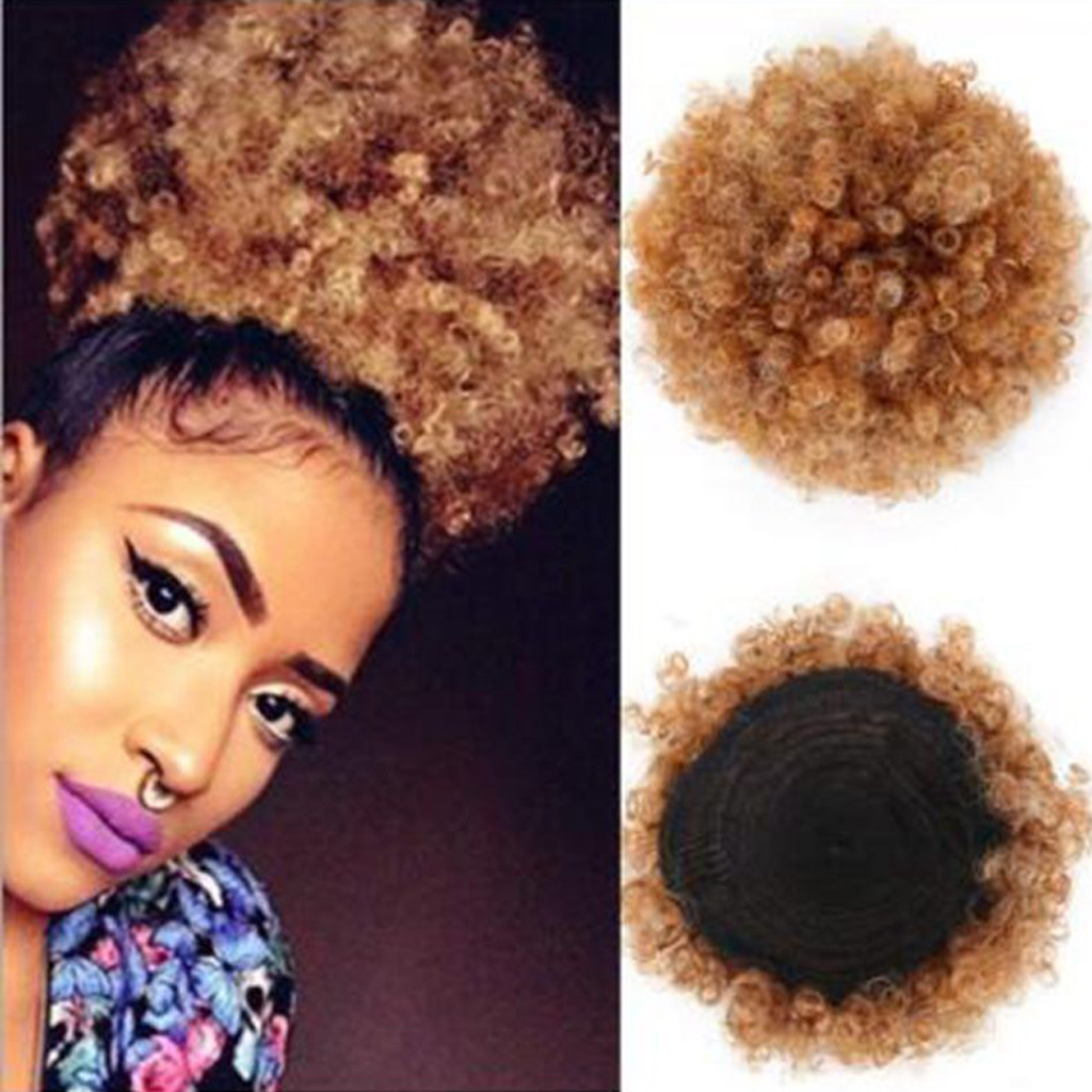 Top Quality Fashion Pretty Woman Lady Girl Soft Ponytail Holder Hairpiece Afro Puff Wig Hair Ring Bun Party Gift Dropshipping
