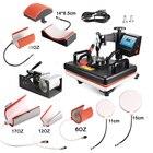 30*38CM 8 in 1 Combo Heat Press Printer Machine 2D Thermal Transfer Printer for Cap Mug Plate T-shirts Printing