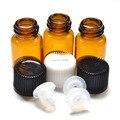 10 unids 2 ml Frascos de Vidrio Pequeños con Orificio Reductor y Pequeño Mini Ámbar Botella de Aceite Esencial