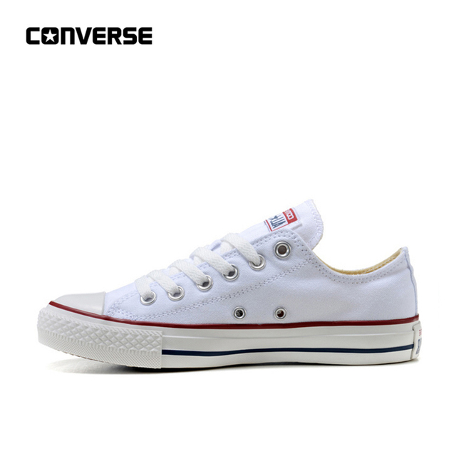 Converse All Star Classic Canvas Low Top Skateboarding Shoes Unisex White Anti-Slippery Sneakser 35-44