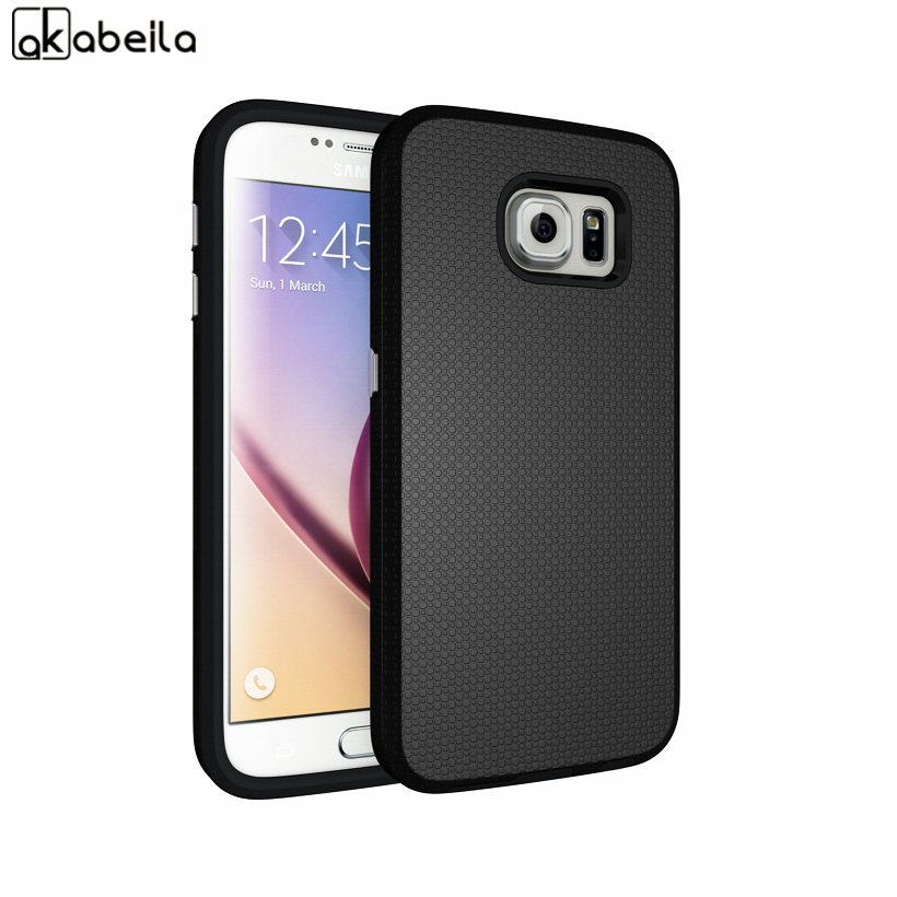 AKABEILA Armor Phone Covers Cases For Samsung Galaxy S6 SVI G9200 G9208 G9208/SS G9209 G920A G920F Case Cover Army TPU PC Bag
