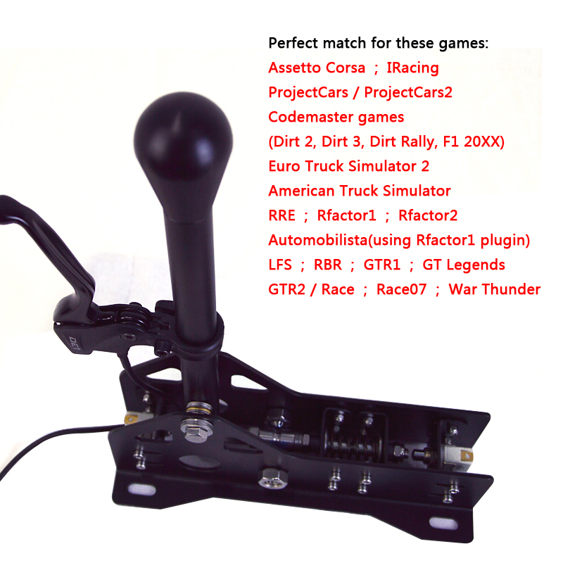 2019 PC Racing Games SRS Sequential Shifter Gearshift SIM For