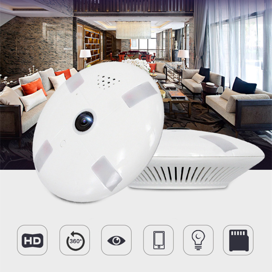 HD FishEye IP Camera WiFi 960P 360 Degree Mini WiFi Camera 2MP Network Home Security Camera Panoramic IR Surveillance Camera sima land свеча цифра в торт 9 с днем рождения 4 3 х 7 2 см 1049629