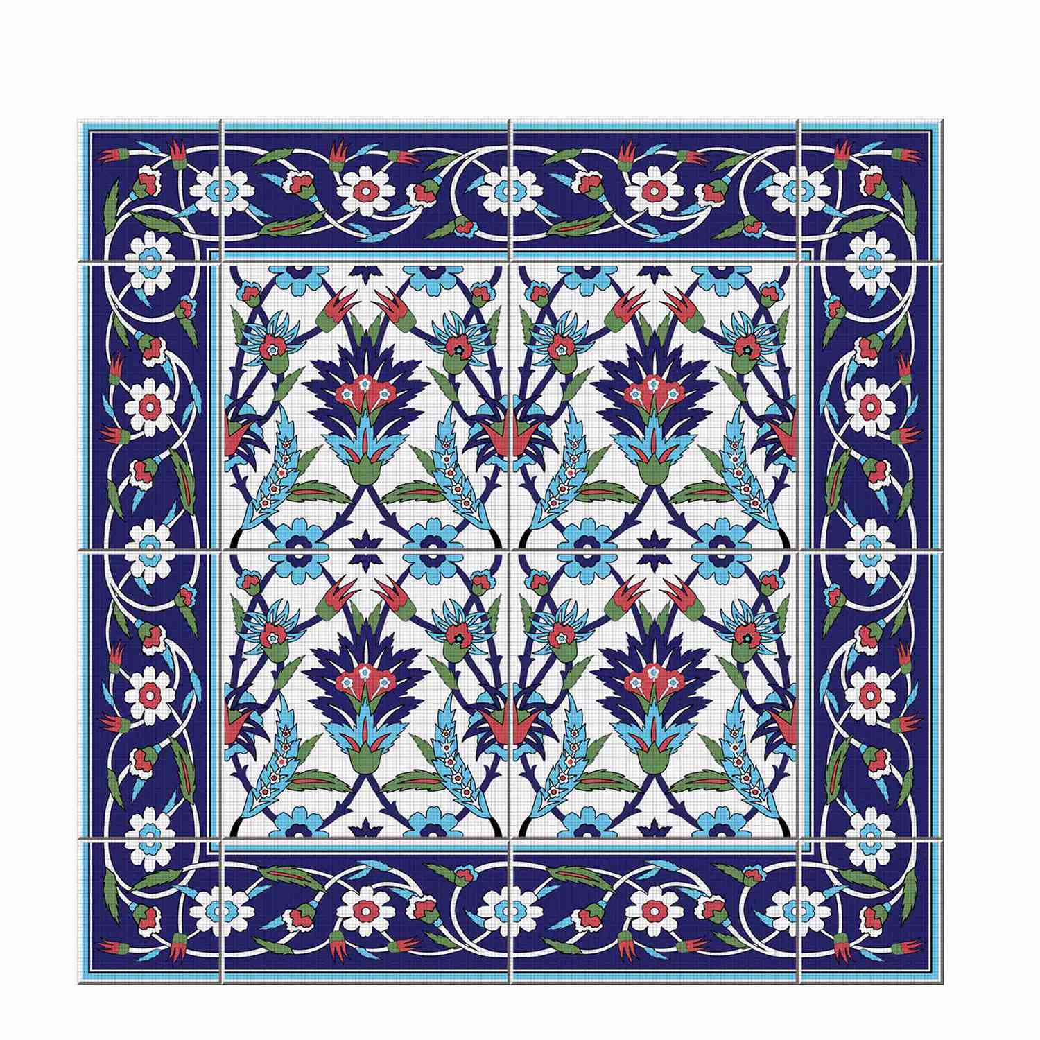 Image 4 - Hot  Moroccan Lack Table Desk Tops Cloth Wall Decals Removable Self Adhesive Waterproof Furniture Wall Sticker 55X55Cm-in Wall Stickers from Home & Garden