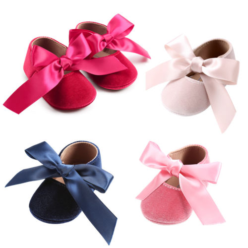 Baby Girl Princess Shoes Infant Toddler Red Lace  First Walkers  Party Wedding Flat Shoes