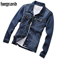 HEE GRAND Europe Style Male Denim Jacket Classic Fashion Slim Jean Jacket Spring Male Casual Jacket MWJ2236