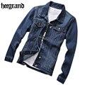 Hee grand europa estilo denim masculino primavera chaqueta masculina chaqueta informal chaqueta moda delgado classic jean mwj2236