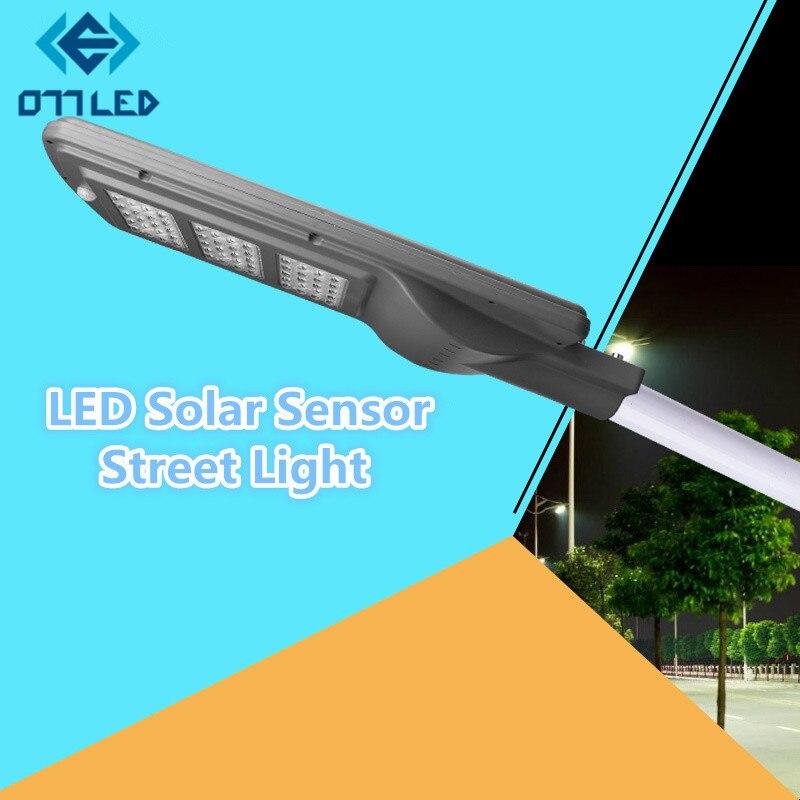 Lampadaire LED lumière solaire 20 w 40 w IP65 capteur lampe de route éclairage public Plaza jardin Yard crépuscule à l'aube panneau solaire extérieur