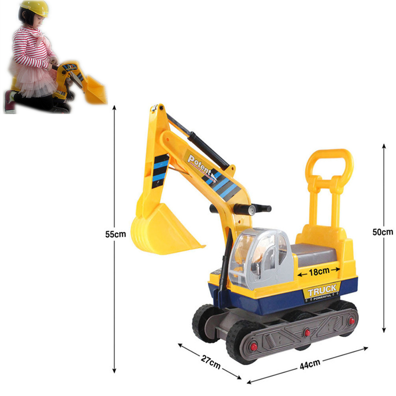Toys For Big : New six wheels large excavator can ride gift toys for
