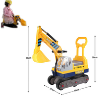 2017 New Six Wheels Large Excavator Can Ride Gift Toys For Boys & Girls Children's Car Toys