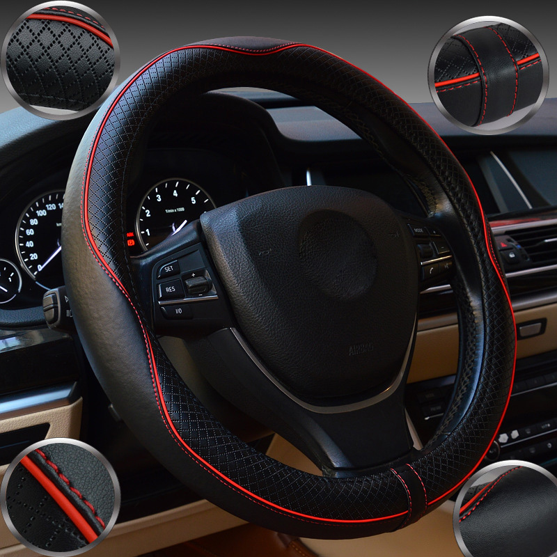 High Quality Car Steering Wheel Leather DIY Diameter Sets 38cm Elegant Universal Case Skidproof Styling Cover