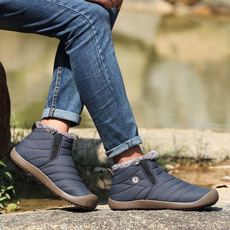 Nouveau 059 Style Noir sur gris 38 Mode Mâle Chaussures Grande 48 Homme Taille Hh bleu Bottes Hommes Slip Casual Neige Cheville Top ~ Qualité Hiver mvN08wn