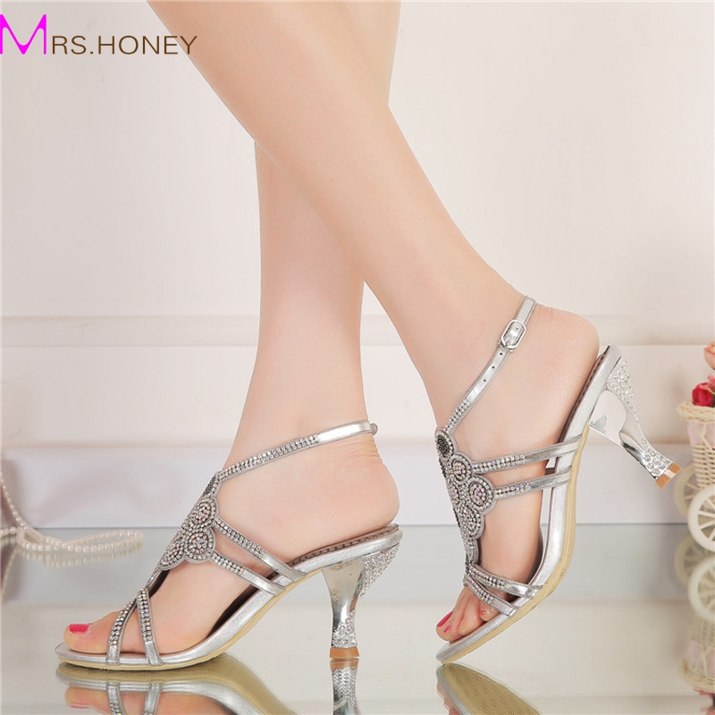 Silver Rhinestone Shoes Size