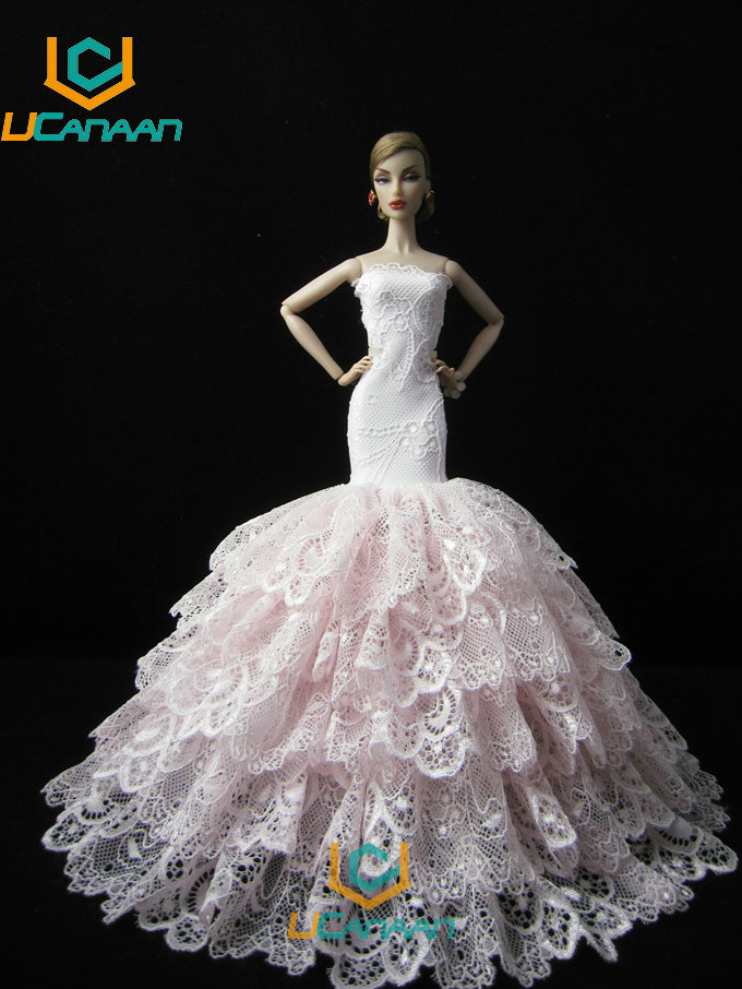 Not Contain the Doll ! Ucanaan 1 PC Pink Fishtail Dress For babi Doll Limited Collection Elegant Dark Handmade Dress Clothes sachin babi повседневные брюки