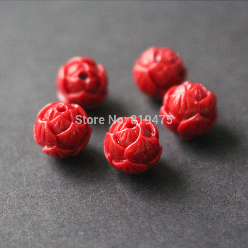 (20 pieces/lot) 8,10,12MM red lotus coral Beads Jewelry making DIY accessoires