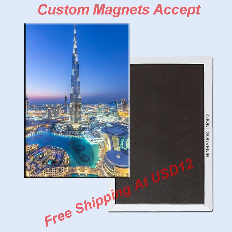 Rectangle Rigid Magnets ,The united Arab emirates/UAE Dubai Ha Farley tower Metal Fridge Magnet 5599 Travel Souvenirs
