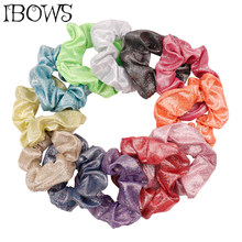 Women Shiny Laser Elastic Hair Bands Girl Ponytail Holder Scrunchie Hair Rope For Lady Elegant Hair Accessories Gum For Hair(China)
