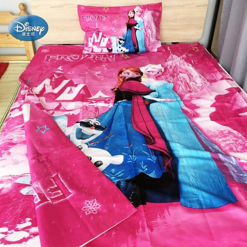 Cheap Bedroom Sets Kids Elsa From Frozen For Girls Toddler: Cartoon Pink Frozen Princess Elsa Anna Girls Bedding Set