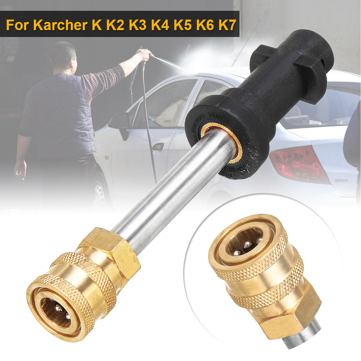 New  Female Conversion Fitting Pressure Washer Jet Wash Quick Release Car Washer Accessories for Karcher K K2 K3 K4 K5 K6 K7