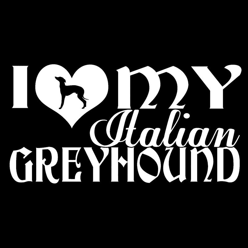30cm I Love My Italian Greyhound Fashion Stickers Decals Car Styling 6z-0028