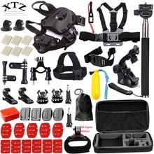 for gopro equipment set canine harness mount for go professional hero 5 four three equipment mount for xiaomi yi digital camera / eken h9 tripod 17A