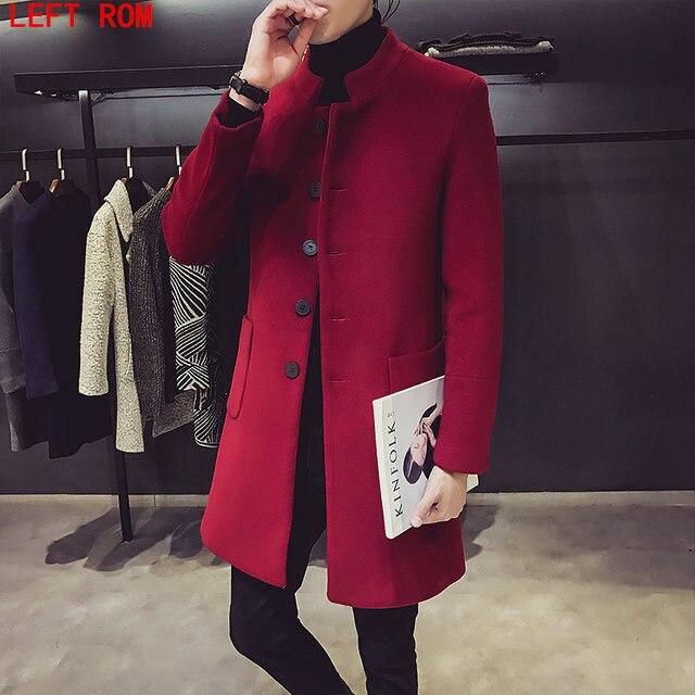 Для Мужчин's Шерстяные Пиджаки и Куртки зимние кашемировые куртка человек длинная куртка с секциями Однобортный пальто отложной воротник Повседневное шерстяное пальто