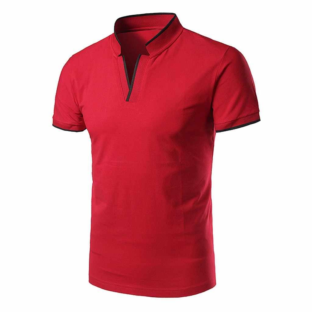 Verão 2019 camisa masculina moda gola de manga curta coreano roupas masculinas camisa formal