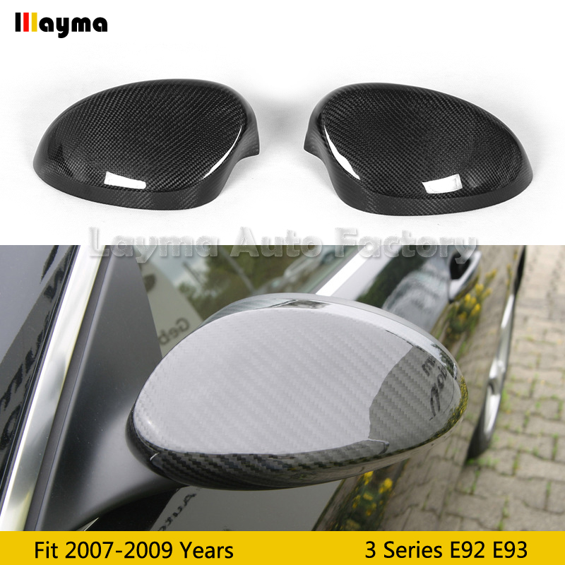 A Pair Fit for BMW E87 E82 Side Mirror Cover Case Cap 100/% Real Carbon Fiber New