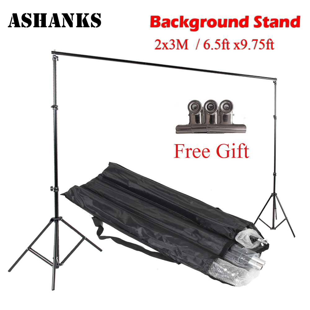 ФОТО Good quality 2.6M X 3M Pro Photography Photo Backdrops Background Support System Stands For Photo Video Studio + carry bag