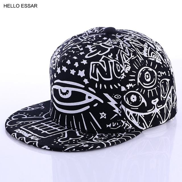 350e784ea47c27 Hats New Arrival Graffiti eyes hat Hip-hop Hat fashion Vintage flat cap  Baseball Cap #70014
