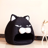 Cat Head Shape Creative Dog Cat Bed Pet Bed Cute House Warm Soft Dogs Kennel Dog House Pet Sleeping Bag Cat Bed Cat House Cotton