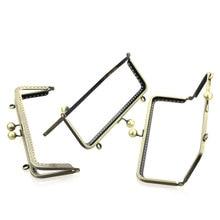 10Pcs Bronze Tone DIY Purse Bag Handbag Rectangle Frame Kiss Clasps Lock Handle 20x8cm недорого